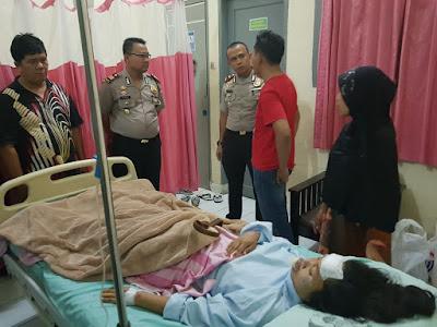 Nyaris tewas , Karyawati  ini di Jambret di Jalan Putri Hijau Medan