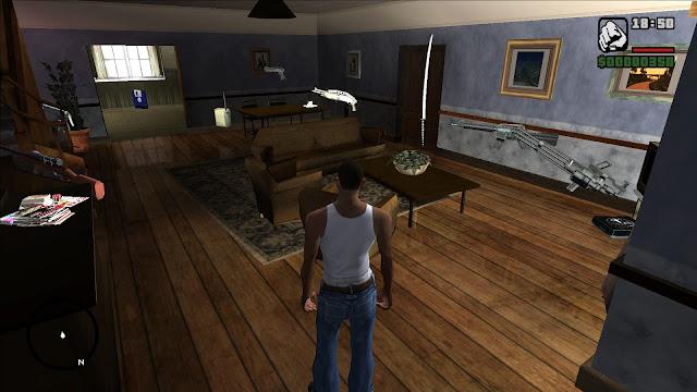GTA San Andreas Guns At The Johnsons' House Mod