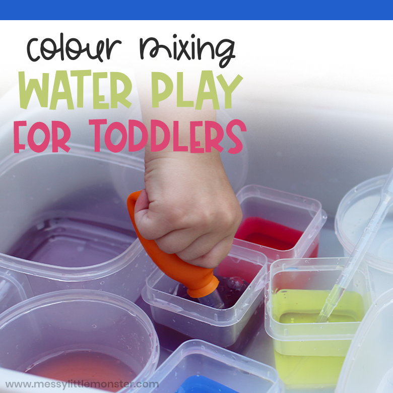 Colour mixing water activity for toddlers
