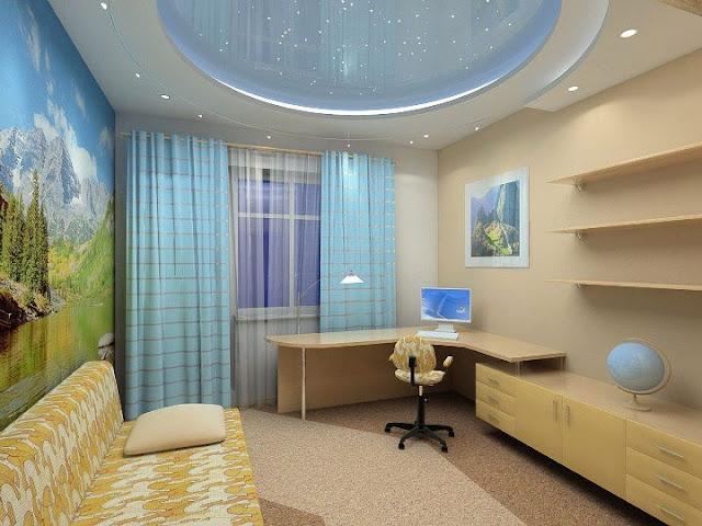 elegant stretch ceiling design starry sky