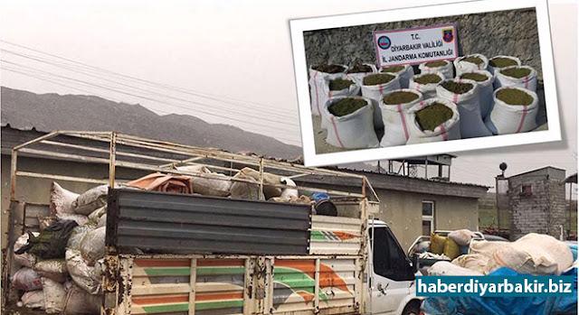 DİYARBAKIR-Diyarbakır Valiliğinden yapılan açıklamada, Lice ilçesi Kabakaya köyünde yapılan operasyonlarda, 3 ayrı noktada araziye gizlenmiş ve toprağa gömülü vaziyette, 2 bin 860 kilo toz esrar ve 190 kilo kubar esrar olmak üzere toplam 3 bin 050 kilo uyuşturucu madde ele geçirildiği belirtildi.