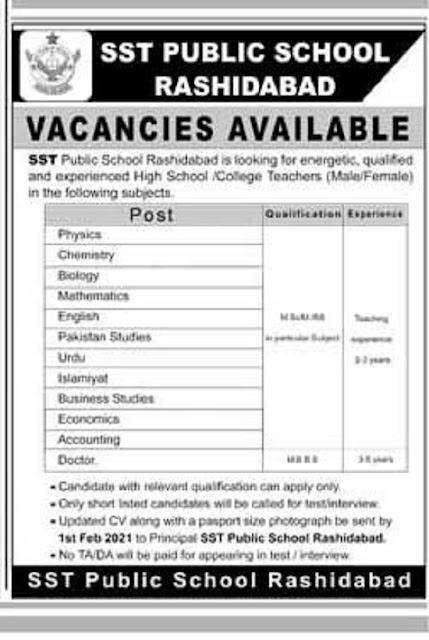 sst-public-school-rashidabad-jobs-2021-advertisement