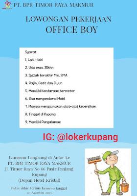 Lowongan Kerja BPR Timor Raya Makmur Sebagai Office Boy