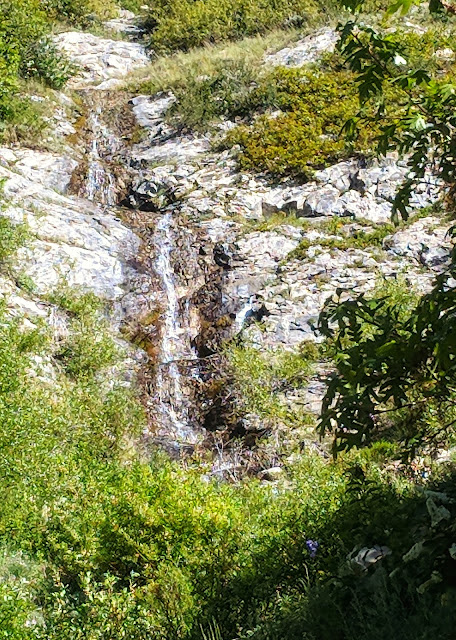 Waterfall on Dry Creek Trail between Granite Flats and Alpine Utah