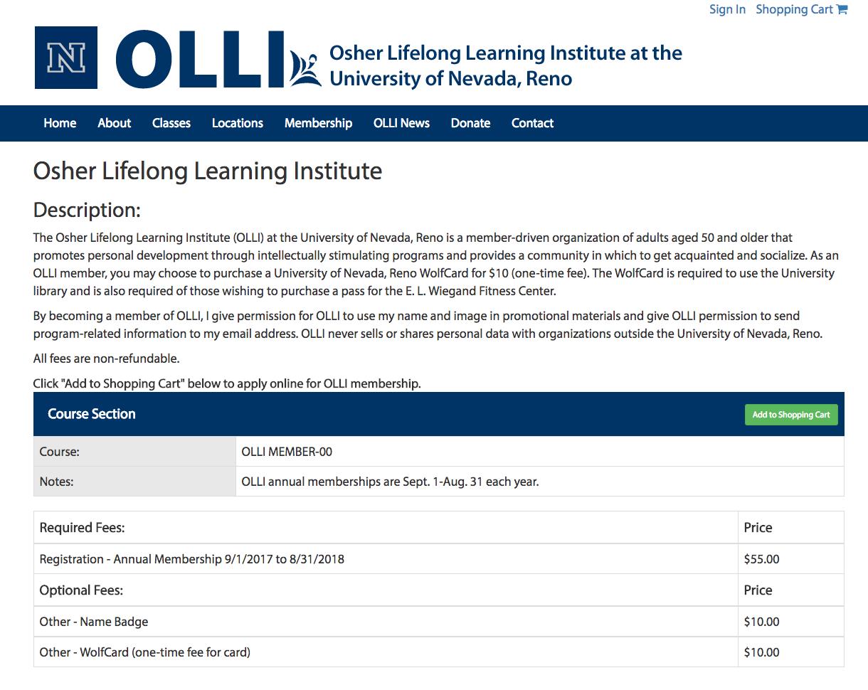 check out 5f677 e4170 OLLI Reno News: Online Enrollment now open