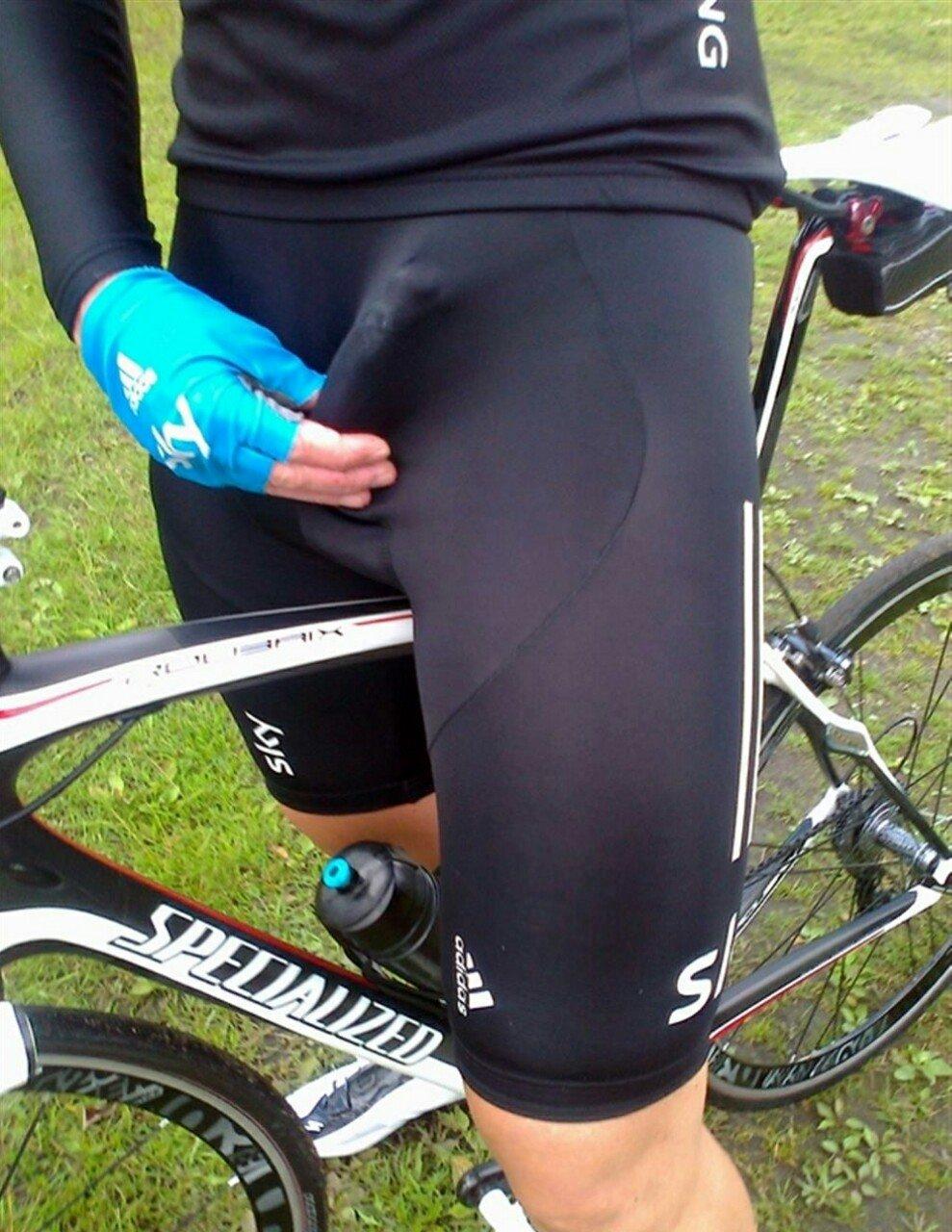erección de ciclista