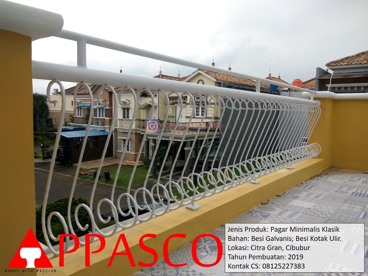 Pagar Minimalis Klasik Ulir Untuk Balkon di Citra Gran Cibubur