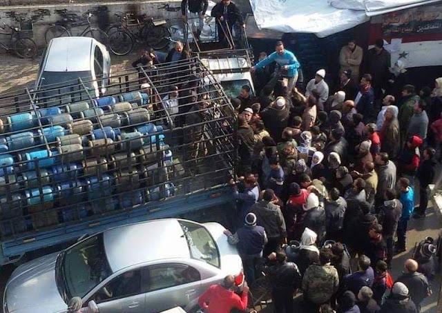 أزمة غاز خانقة في دمشق وسعر الاسطوانة يتجاوز ال 7 آلاف ليرة