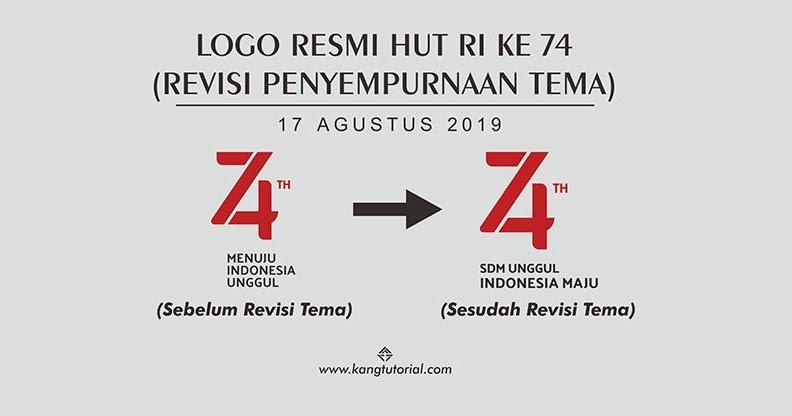 second image for Logo Hut Ri Ke 74 Cdr with Download Logo Resmi HUT RI Ke 74 Tahun 2019 Format CDR dan ...