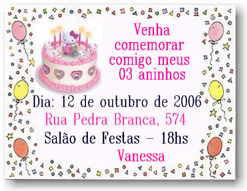 Convites De Aniversario Infantil Atelie Terezinha Polaini