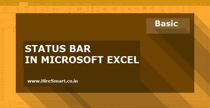 Status Bar In Microsoft Excel