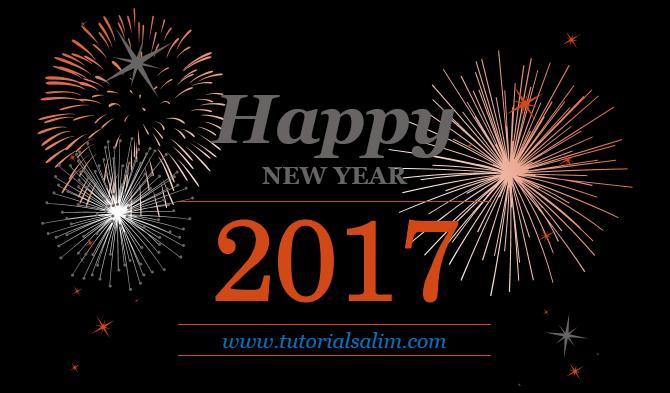 Kartu Ucapa Happy New year 2017 Selamat Tahun Baru 2017