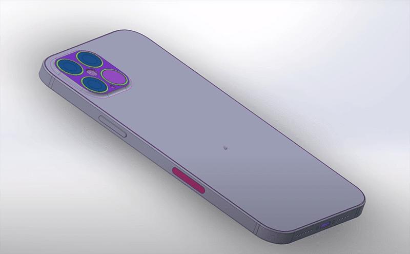 CAD render rear side