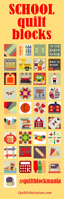 40 school themed quilt blocks