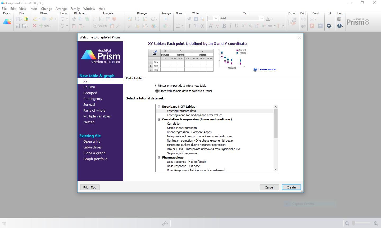 تحميل برنامج GraphPad Prism 8.4.3.686 لجميع أنواع الدراسة أو البحث العلمي