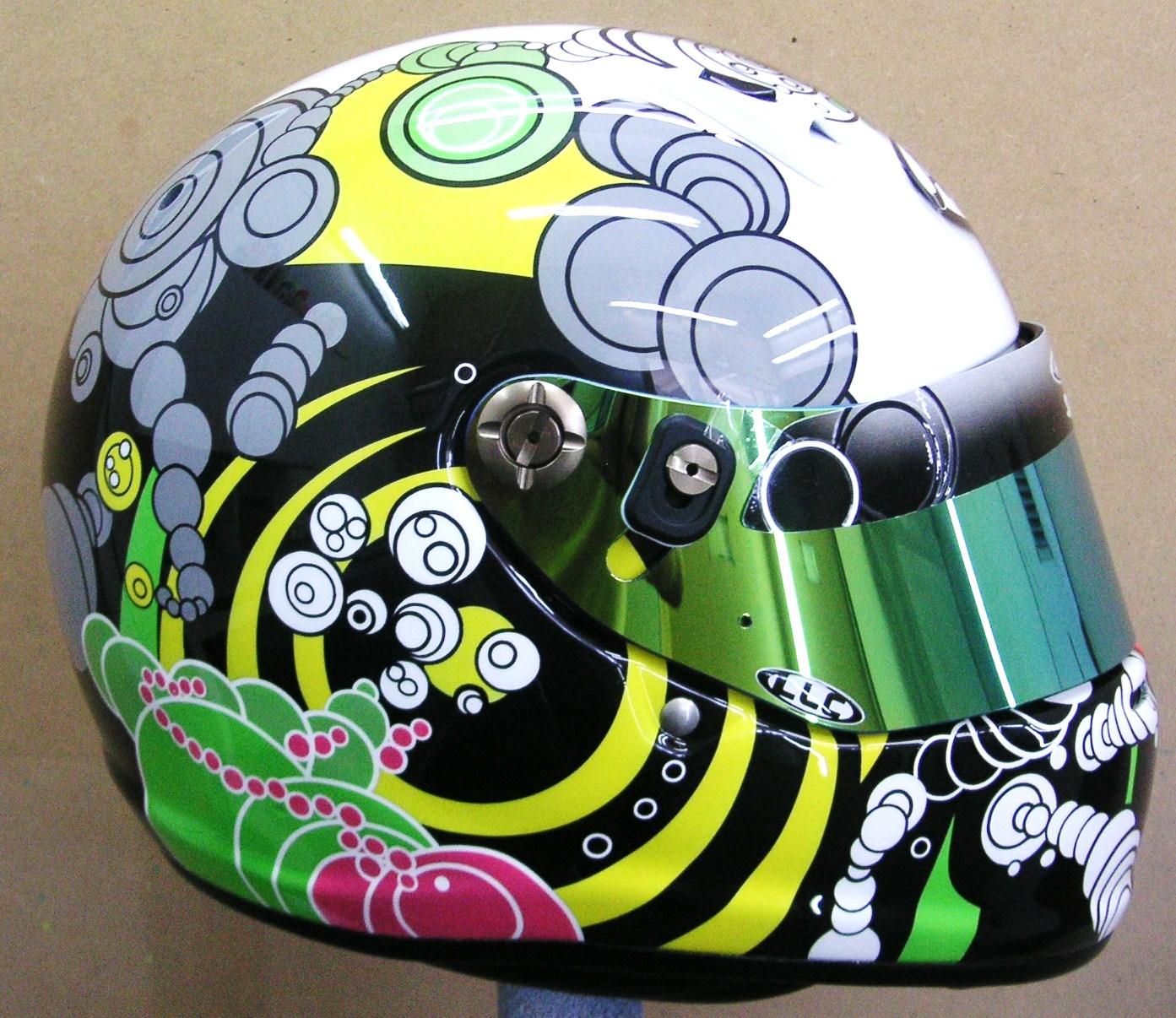 Arai Custom Design Kart Helmet 150 Hand Painted Helmets