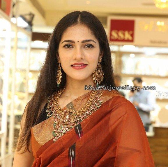Simran Chowdary Balaji Peacock Necklace