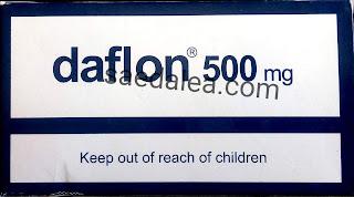 دافلون ۵۰۰ مجم Daflon 500 لعلاج اضطراب الدورة الدموية
