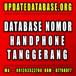 Jual Database Nomor Handphone Tanggerang
