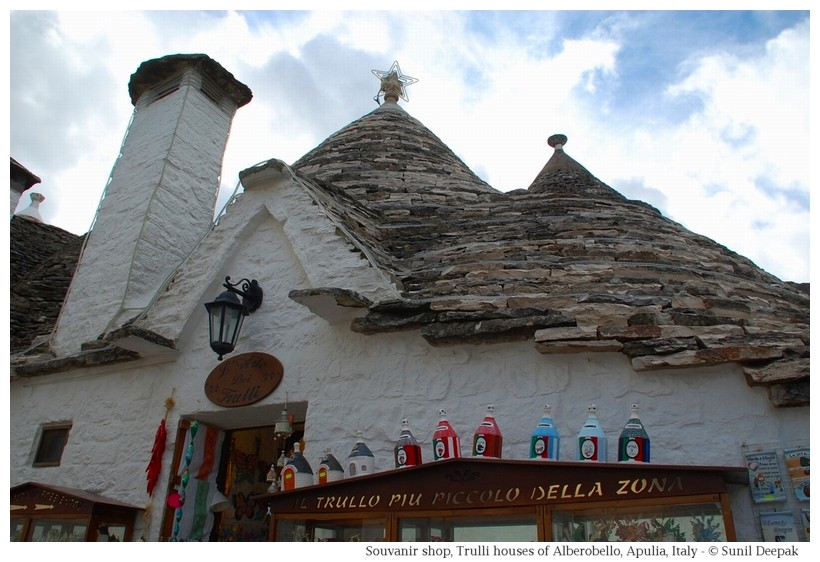 Trulli houses in Alberobello - a sourvenir shop - Photographs by Sunil Deepak