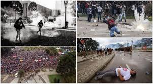 A sequência de violência  sobre professores indefensos na Cidade de Curitiba-PR.