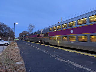 MBTA: Franklin Line notice for weekend of Nov 30 - Dec 1
