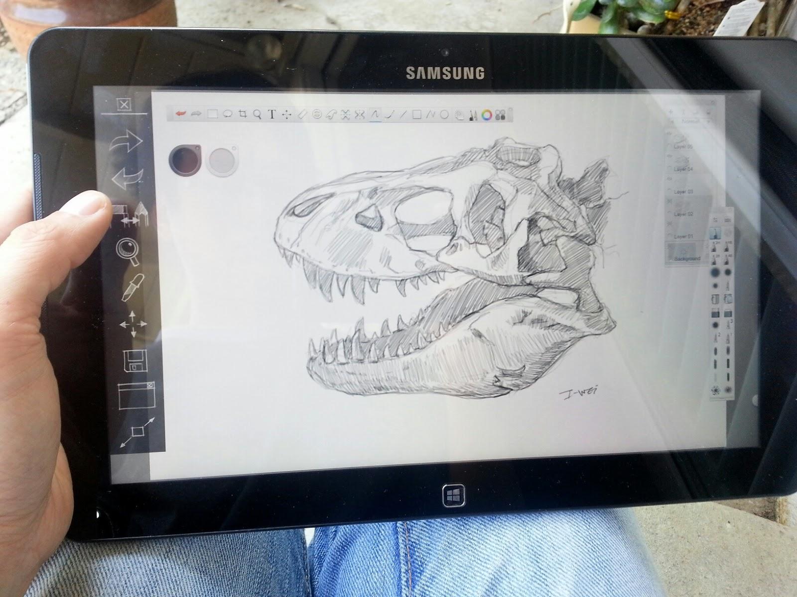 crabfu blog sketchbook artdock for ativ pro surface pro