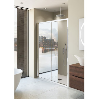 Shower Cabin With Mirrored Doors