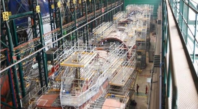 Astilleros de Navantia Cartagena construyendo el S-81