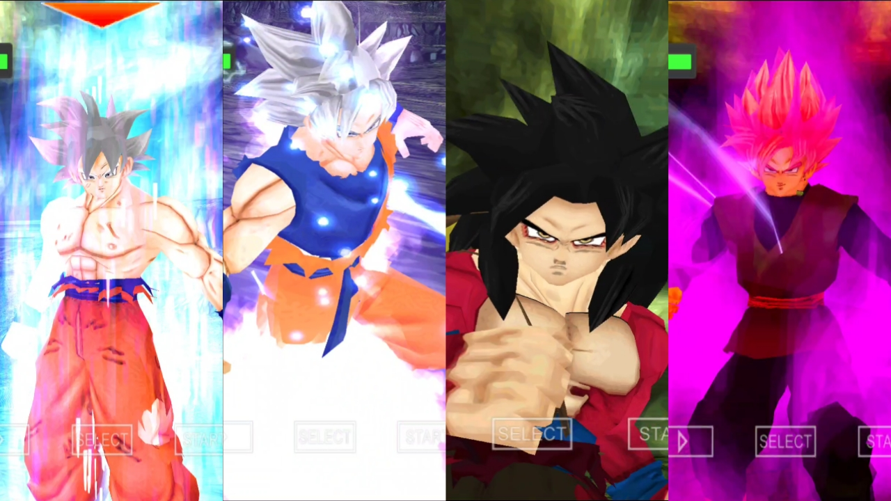 Dragon Ball Super Goku all forms DBZ TTT Mod