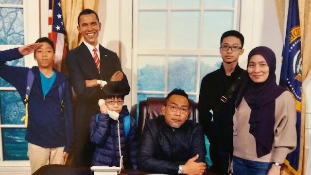 Gambar Wan Nong Muzafar Bersama Keluarga