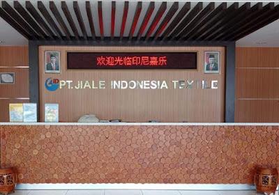 Loker PT JIALE INDONESIA TEXTILE PRODUKSI TAS  membuka lowongan kerja untuk posisi : Operator Jahit  QC  Operator Cutting  Mechanic Listrik  Operator Packing  Mechanic Sewing