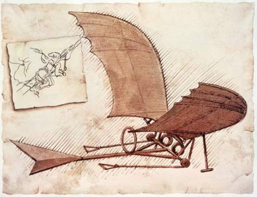 Flying machine by Leonardo