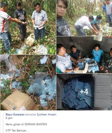 Ditemukan Ribuan KTP Dibuang di Cikande Kabupaten Serang