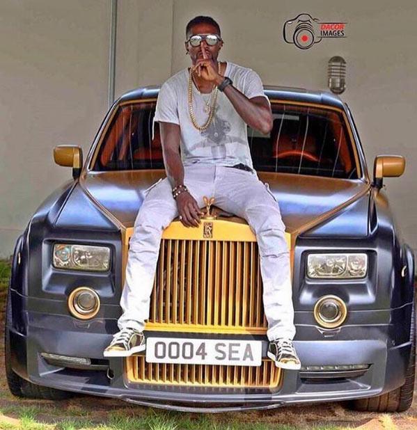 Emmanuel Adebayor flaunts his luxury Rolls Royce ride