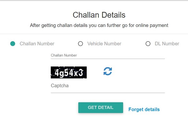 check challan details online