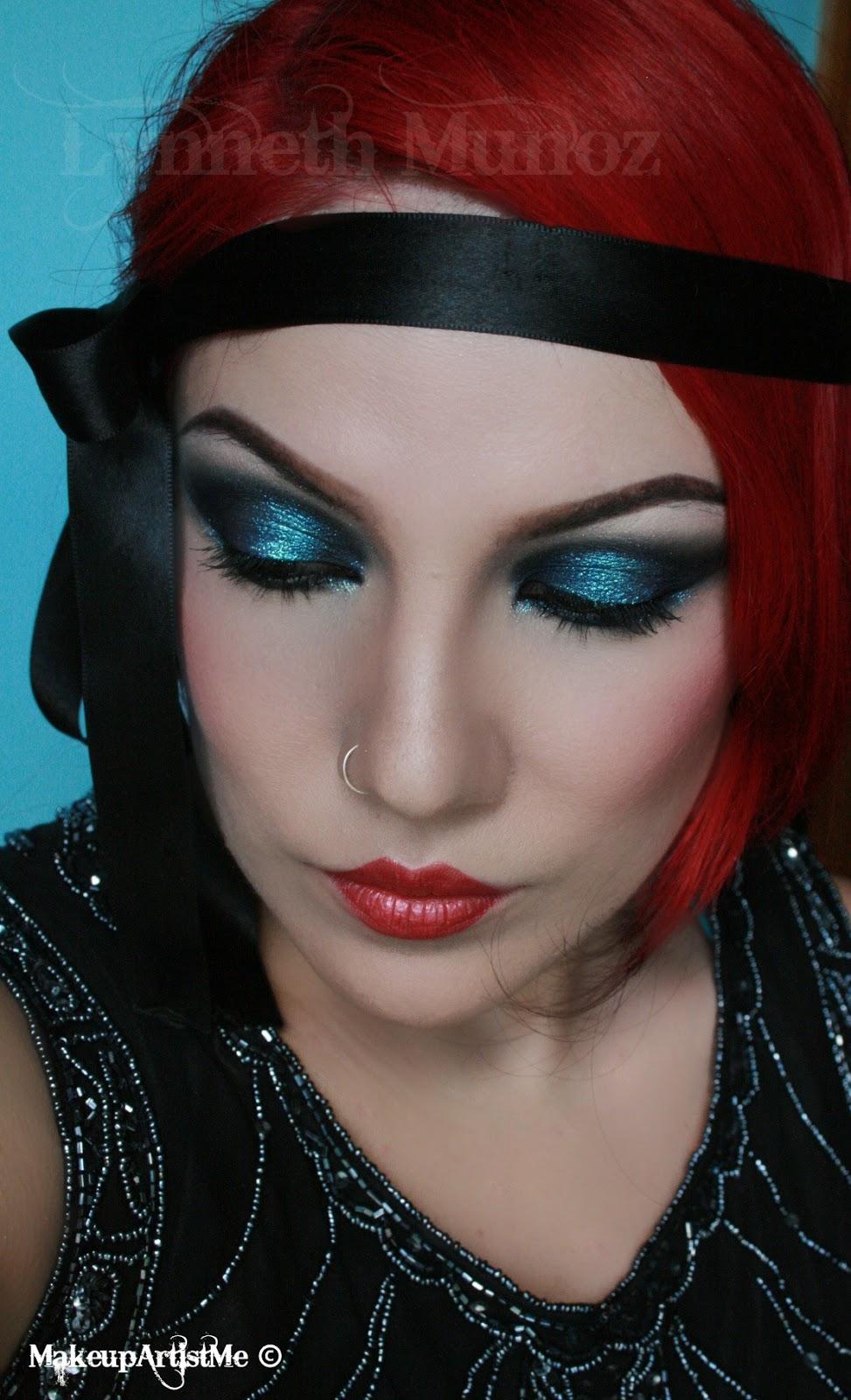 1920s Dramatic Makeup look