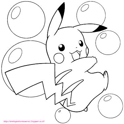 5 Gambar Mewarnai Pokemon Untuk Anak PAUD dan TK