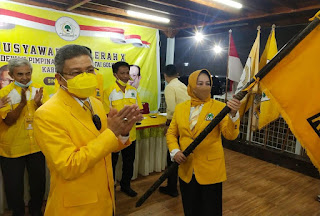 Terpilih Aklamasi,Andi Kartini Ottong Resmi Pimpin Golkar Kabupaten Sinjai