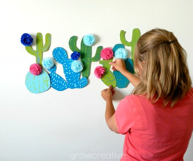 Cactus Wall Art Party Decor: Grow Creative Blog