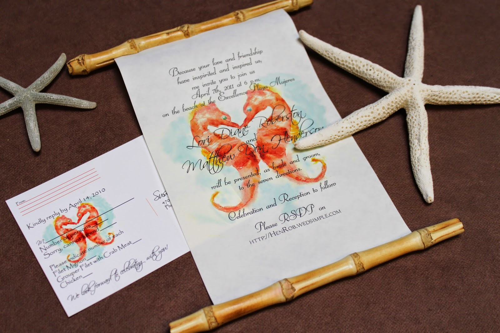 Different Types of Beach Wedding Invitations