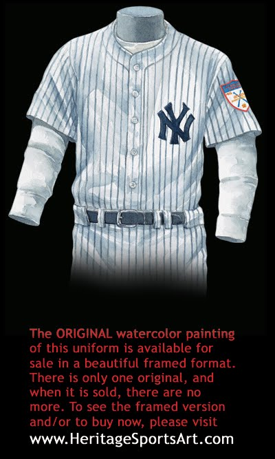 buy online a9414 566ef New York Yankees Uniform and Team History | Heritage ...