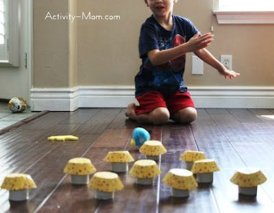 Toilet Paper Roll Craft Bowling