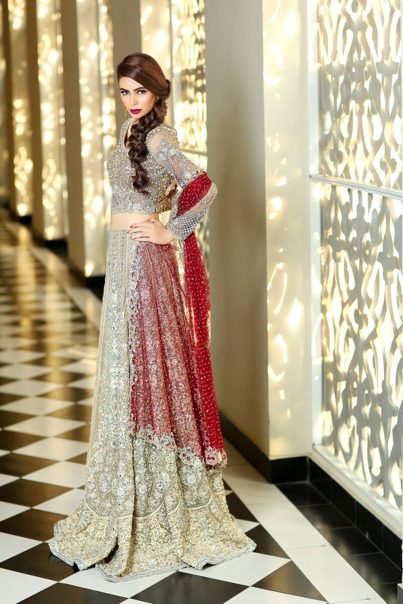 Maria B Bridal Walima Dress with Prices