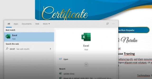 Cara Cepat Membuat sertifikat In house Training Word Dengan Mailing Merge