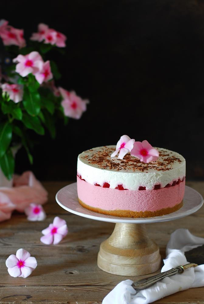 no-bake-yogurt-raspberry-mousse-cake-pastel-mousse-yogur-frambuesa-sin-hornear-dulces-bocados