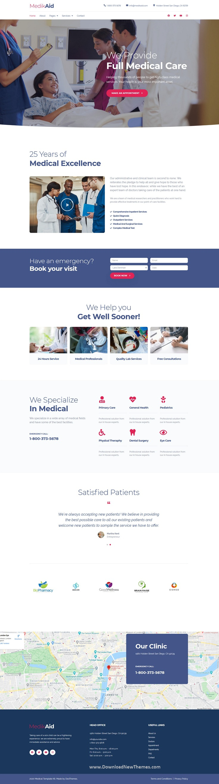 Medical Healthcare Website Template