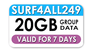 Globe Surf4ALL 249 - 20GB Group Mobile Data for 7 Days