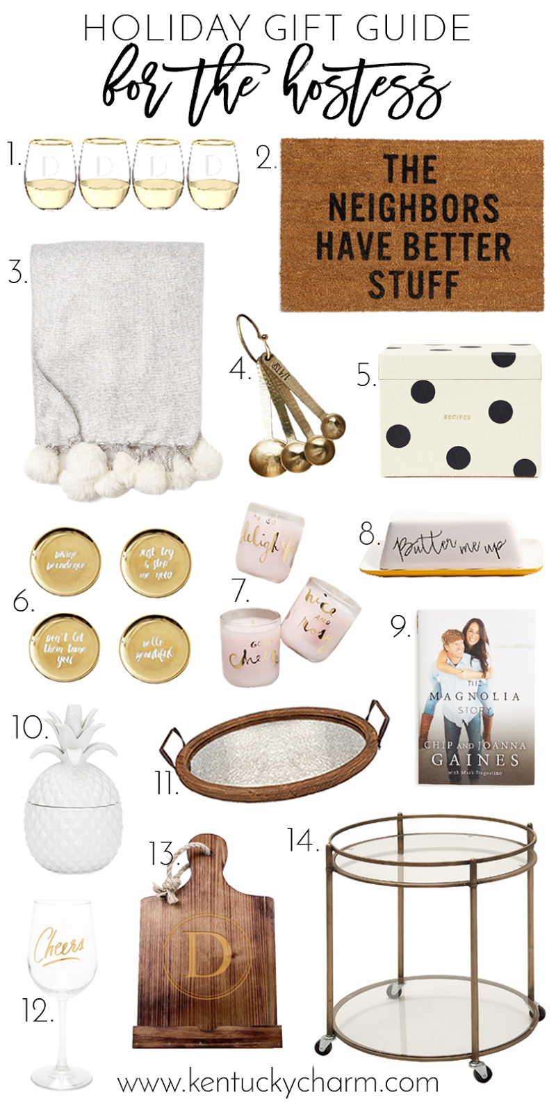 2016 Holiday Gift Guide // For The Hostess // Kentucky Charm