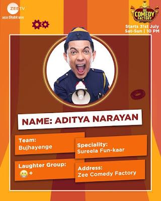 Zee Comedy Factory aditya narayan
